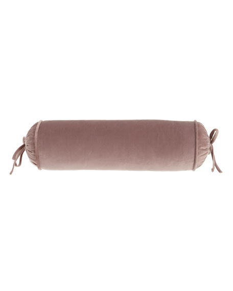 Laila Velvet Neck Roll Pillow