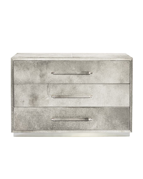 Bernhardt Parkin Hairhide Three-Drawer Chest
