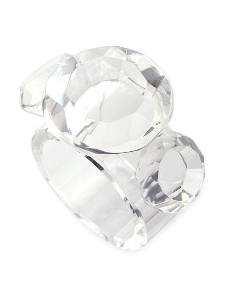 Kim Seybert Diamond Crystal Napkin Rings, Set of