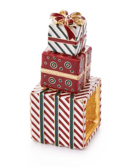 Kim Seybert Wrapped Presents Napkin Rings, Set of