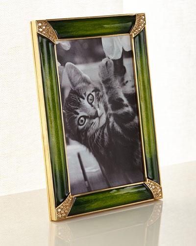 Leland Pave Corner Picture Frame, Emerald, 4