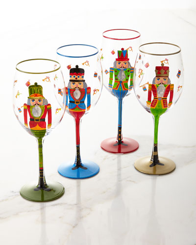 Nutcracker Glasses, Set of 4