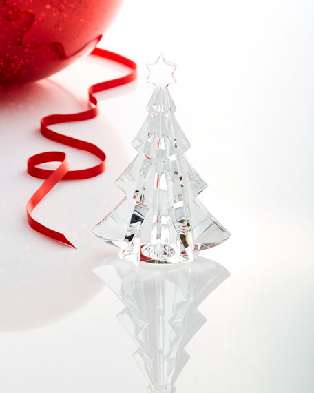 Baccarat Noel Meribel Crystal Fir Tree Collectible, Clear