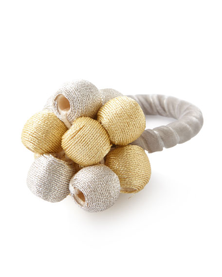 Juliska Metallic Bead Bouquet Napkin Ring