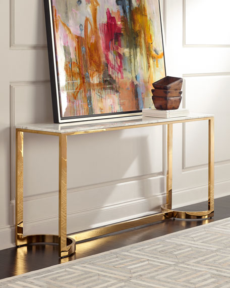 Charmant Marquis Marble Console Table