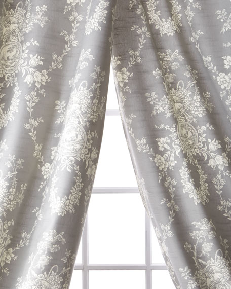 Sherry Kline Home Metropolitan Toile Curtains, 96""