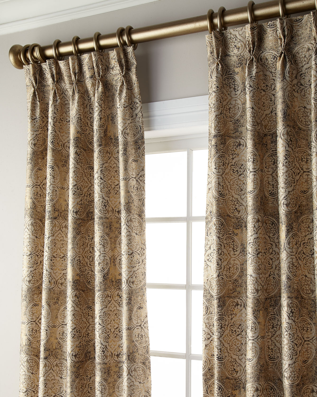 "Misti Thomas Modern Luxuries Ikat Blackout Curtain, 108""L"