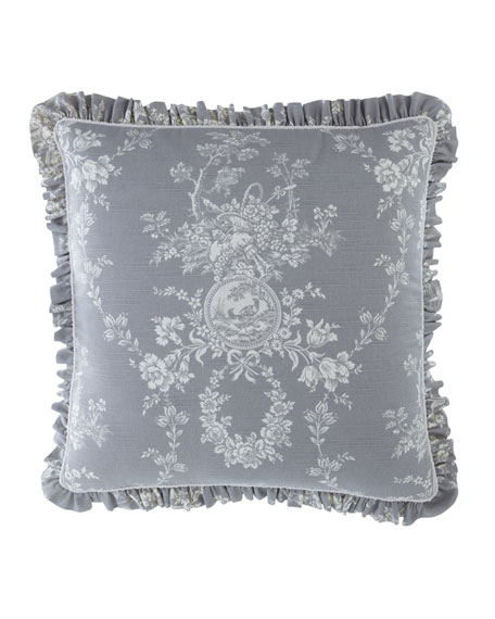 Sherry Kline Home Metropolitan Toile Self Ruffle European Sham