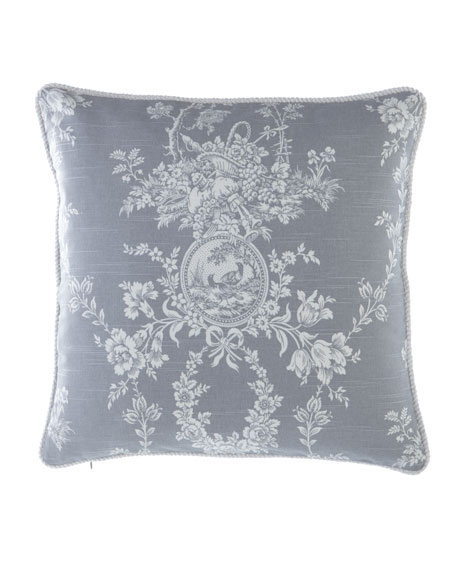 "Sherry Kline Home Metropolitan Toile Pillow, 20""Sq."