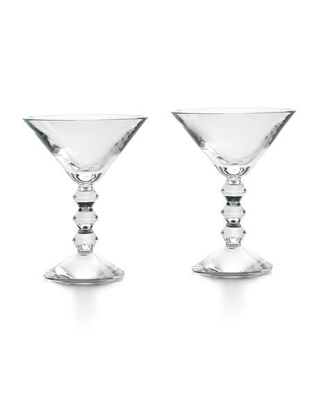Baccarat Vega Martini Glasses, Set of Two