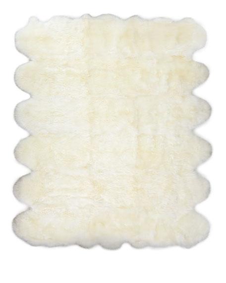 Exquisite Rugs Rocco Sheepskin Rug, 5' x 8'