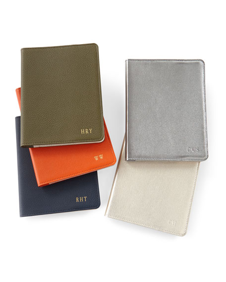 """Leather 9"""" Notebook, Personalized"""