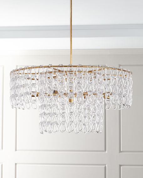 John-Richard Collection Crystal Chain 13-Light Pendant