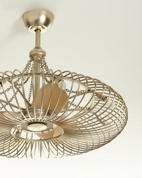 John-Richard Collection Ribbons of Silver 8-Light Pendant with Fan