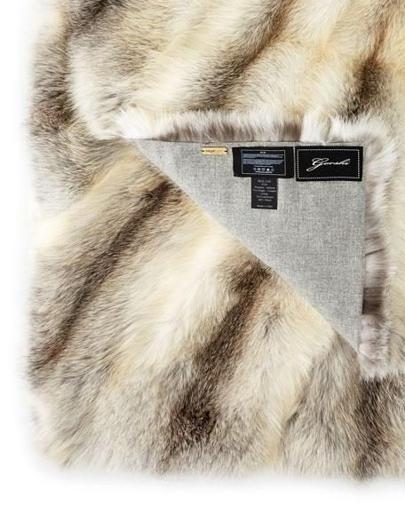 SAGA® Superb Fox Throw, Cashmere/Wool Lined