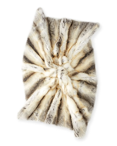 Fawn Fur Blanket with Cashmere Backing
