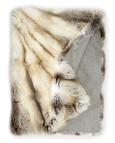 SAGA® Superb Fox Throw, Cashmere/Wool Lined