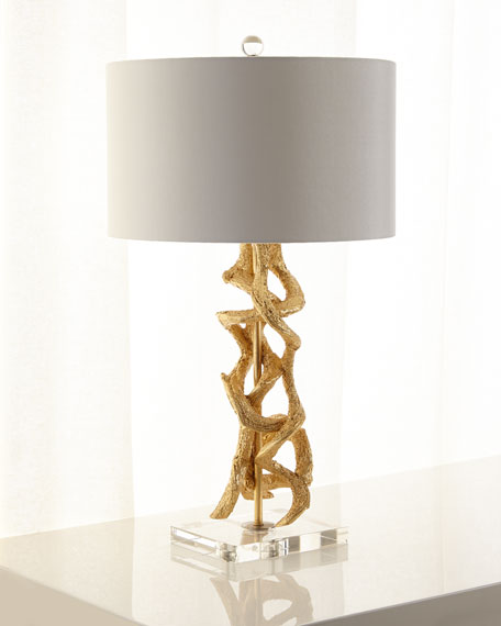 Golden vine table lamp neiman marcus golden vine table lamp aloadofball Choice Image
