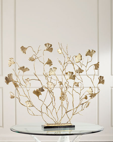John-Richard Collection Ginkgo Leaf on Think Branches