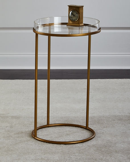 Image 1 of 2: Thylane Acrylic-Top Side Table