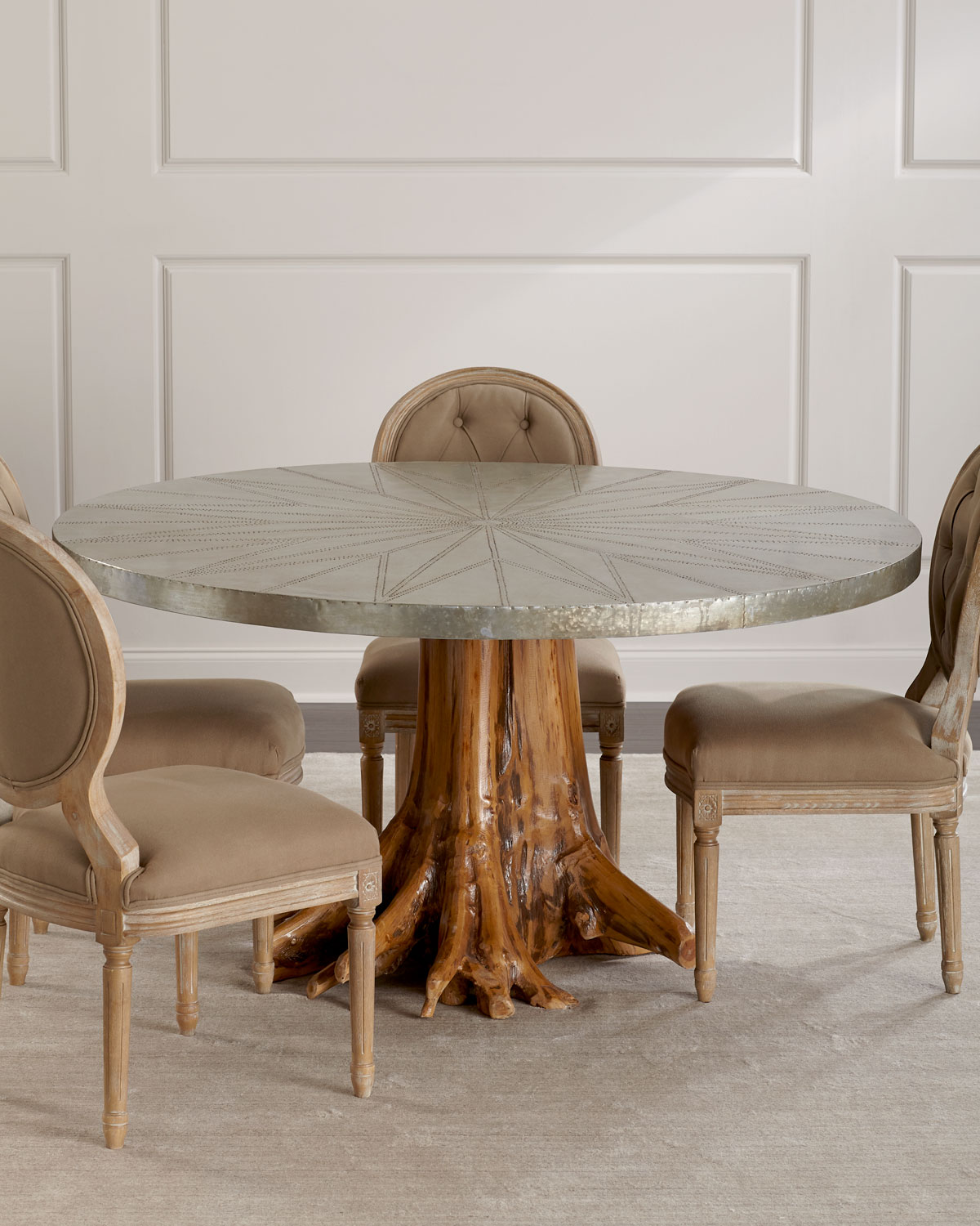 Sorrell Teak Root Dining Table Neiman Marcus