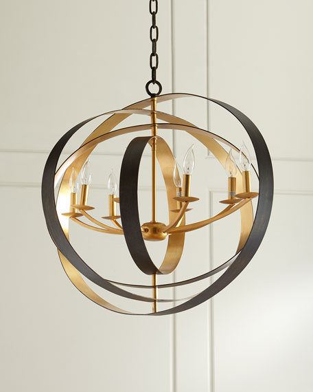 Luna 8-Light Bronze Oval Chandelier