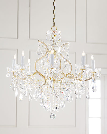 Crystorama Maria Theresa 9-Light Clear Crystal Chandelier