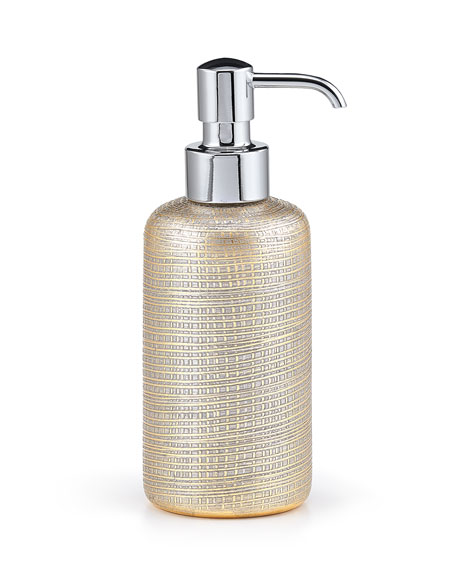 Woven Metallic Pump Dispenser with Chrome Polished Top