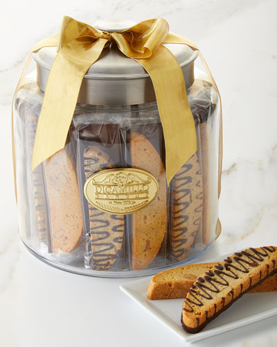 dicamillo baking co holiday biscotti moderno jar - Christmas Food Catalogs
