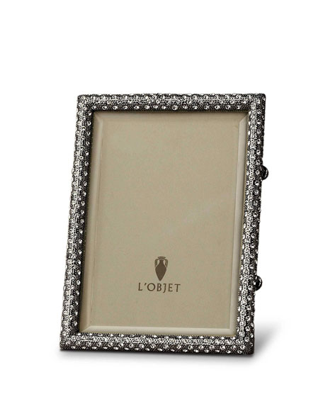 "Pave Black Picture Frame, 4"" x 6"""