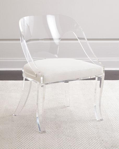 Merveilleux Delilah Round Back Acrylic Chair