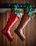 D. Stevens Faux-Leather Christmas Stocking, Personalized