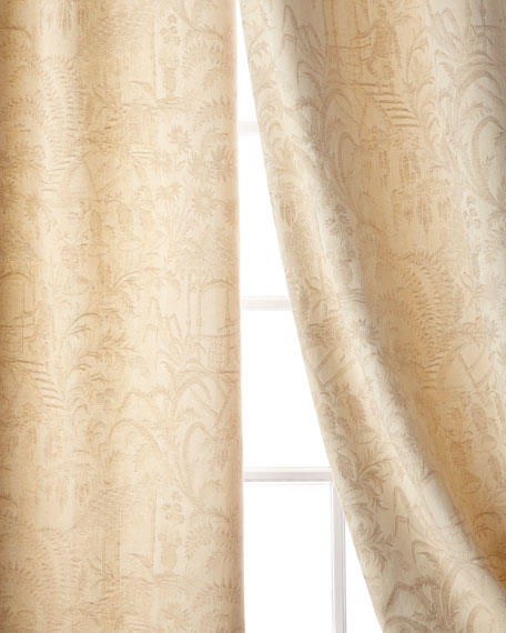 "Chinese Garden Curtain, 84""L"