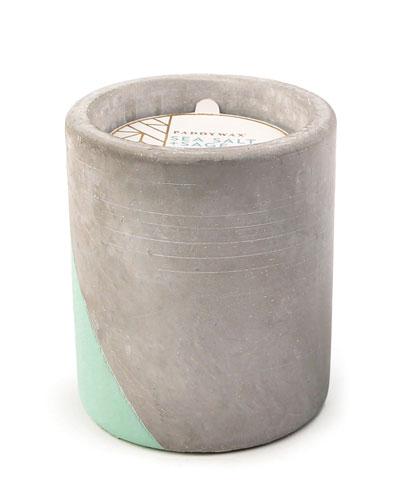 Sea Salt + Sage Large Concrete Candle  12 oz./340g