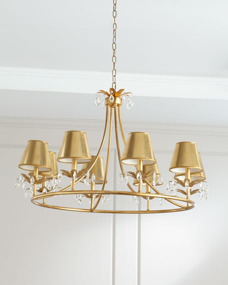 Round Shaded Chandelier