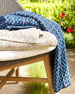 Recycled Retro Throw Blanket, Blue