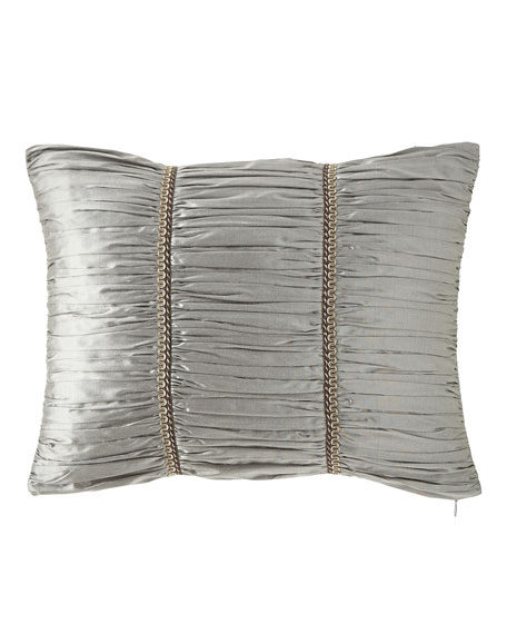 "Austin Horn Collection Rockwell Silk Boudoir Pillow, 14"" x 20"""