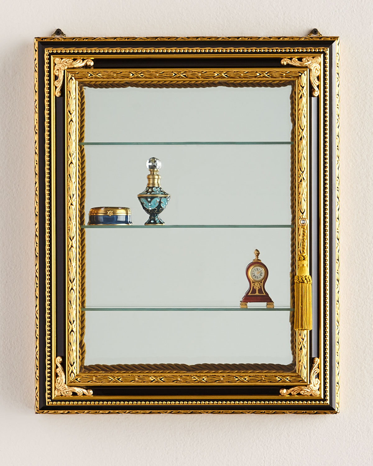 Wall Vitrine with Wooden Frame | Neiman Marcus