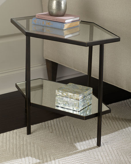 Global Views Fatima Tall Hexagon Side Table and