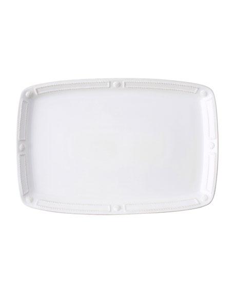 "Juliska Berry Thread French Panel Whitewash Platter, 16.5"""
