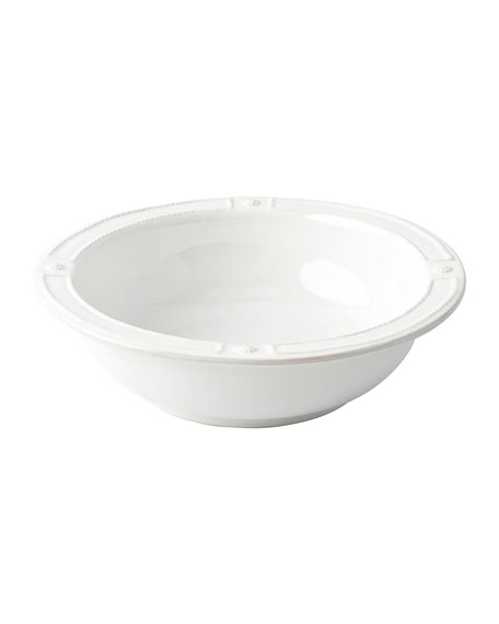 """Berry Thread French Panel Whitewash Serving Bowl, 11.5"""""""