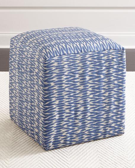 Leonardo Ikat Cube Ottoman