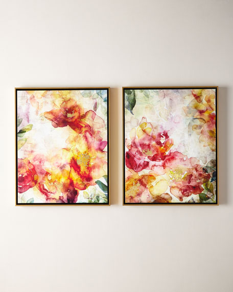 Summer Roses Giclées, Set of 2