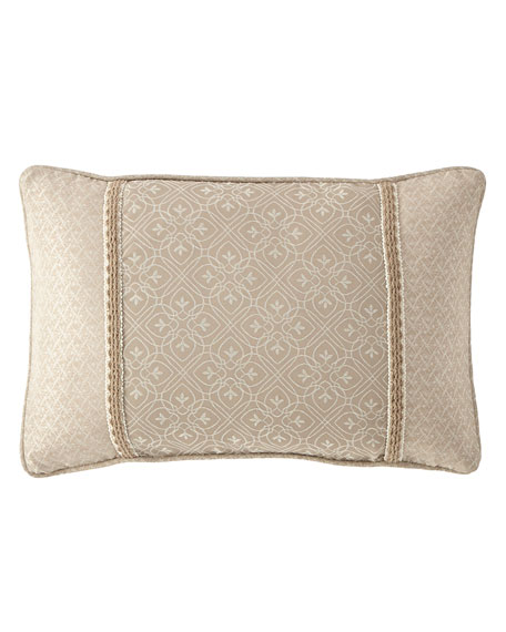 "Victoria Orchid Decorative Pillow, 12"" x 18"""