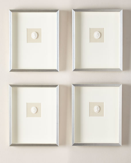 Small Single Framed Intaglios, Set of 4