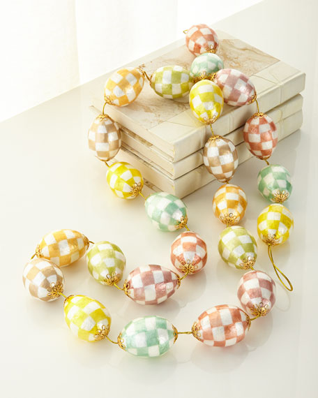 MacKenzie-Childs Cream Eggs Garland