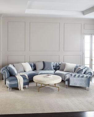 Beau Haute House Varianne Curved Sectional Sofa