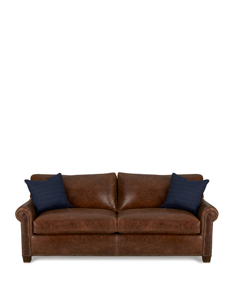 Shields Leather Sleeper Sofa