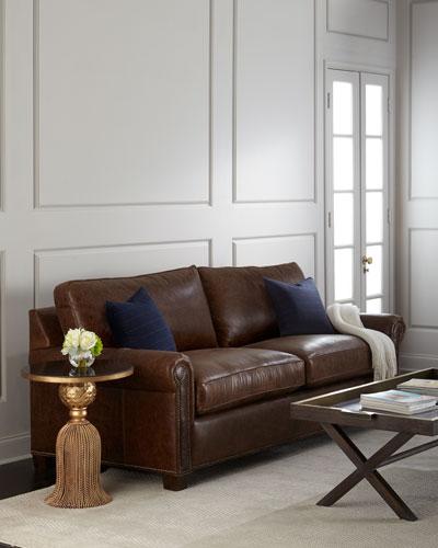 Shields Leather Sleeper Sofa