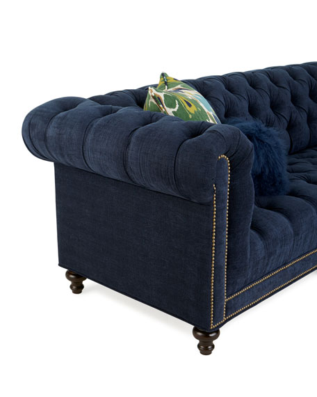 Massoud Kniles Tufted Seat Chesterfield Sofa - 119""